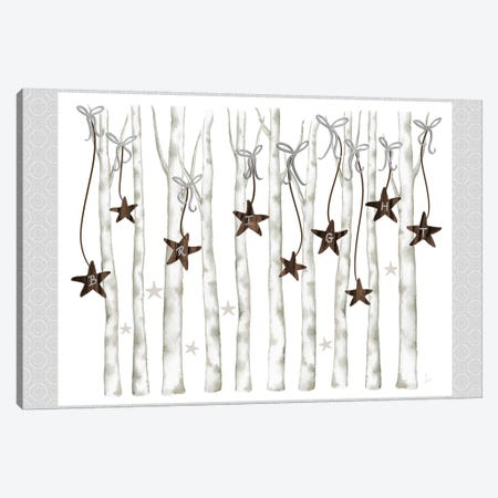 Merry And Bright Birch Trees II Canvas Print #MEZ80} by Andi Metz Canvas Wall Art