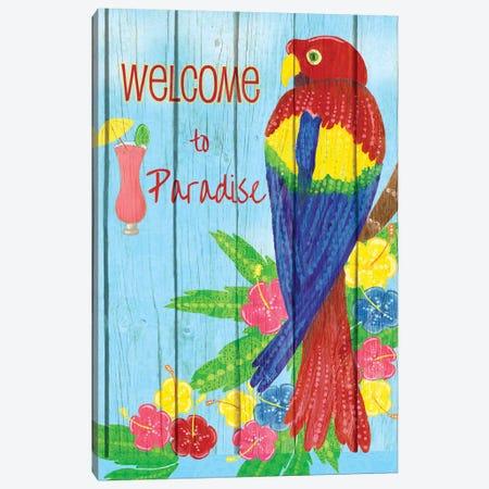 Parrot Party II Canvas Print #MEZ84} by Andi Metz Canvas Print