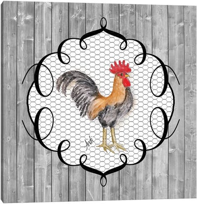 Rooster On The Roost I Canvas Art Print
