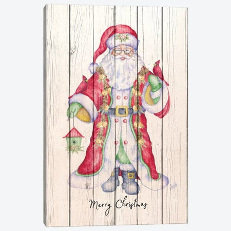 Santa & Cardinal I Canvas Print #MEZ92} by Andi Metz Canvas Print