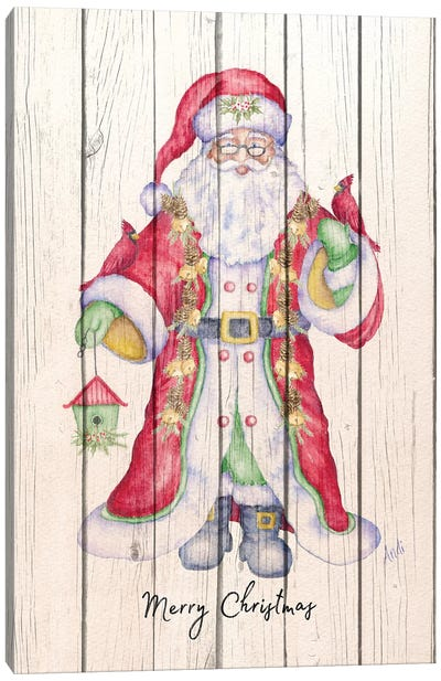 Santa & Cardinal I Canvas Art Print