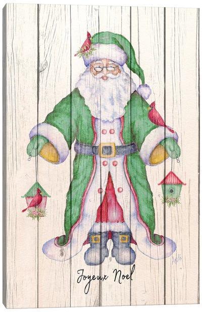 Santa & Cardinal II Canvas Art Print