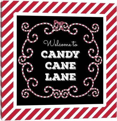 Welcome To Candy Cane Lane Canvas Art Print