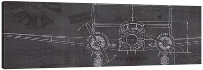 Plane Blueprint IV Canvas Art Print