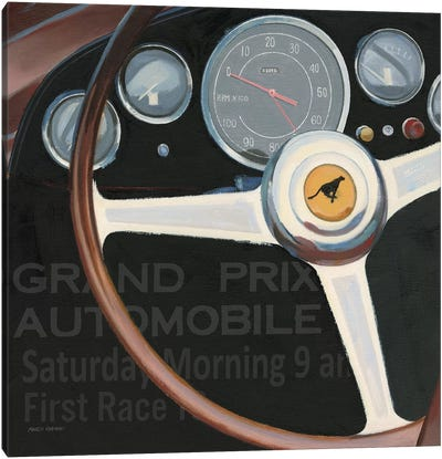 RPM I with Words Canvas Art Print