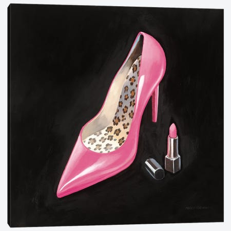 The Pink Shoe II Crop 3-Piece Canvas #MFA22} by Marco Fabiano Canvas Print