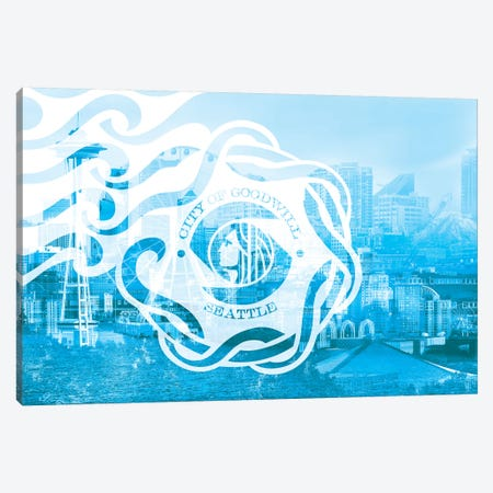 The Emerald City - Seattle - Seaport of the Northwest Canvas Print #MFC10} by 5by5collective Canvas Wall Art