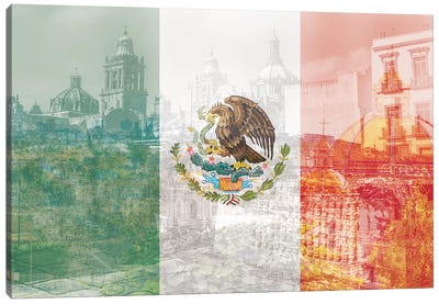 The City of Palaces - Mexico City - Springboard of the Aztec Empire Canvas Art Print