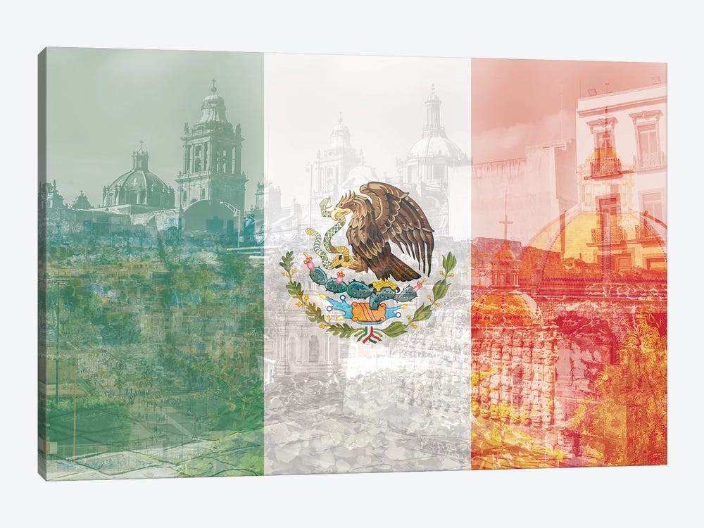 The City of Palaces - Mexico City - Springboard of the Aztec Empire by 5by5collective 1-piece Canvas Print