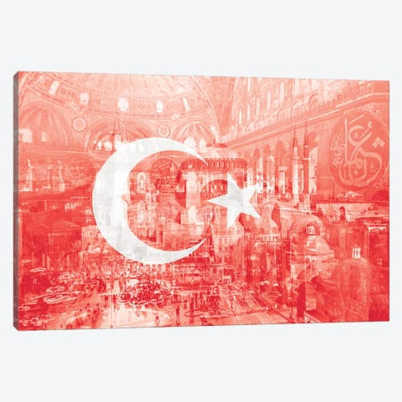 The City on Seven Hills - Istanbul - Straddler of Europe and Asia Canvas Print #MFC12} by 5by5collective Canvas Art