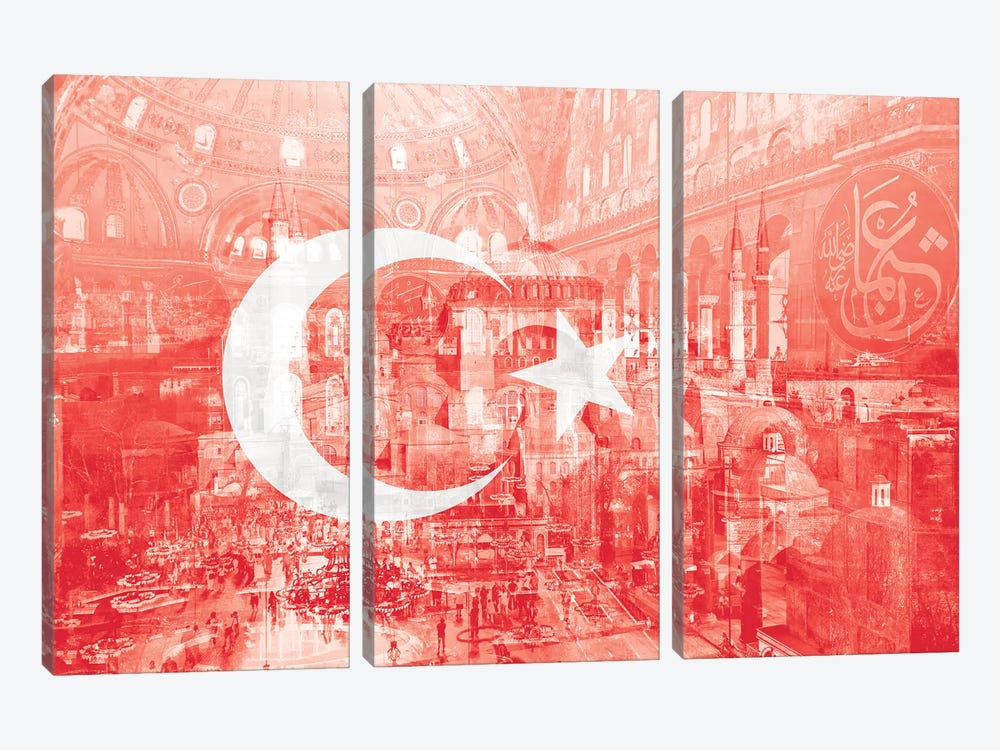 The City on Seven Hills - Istanbul - Straddler of Europe and Asia by 5by5collective 3-piece Canvas Artwork