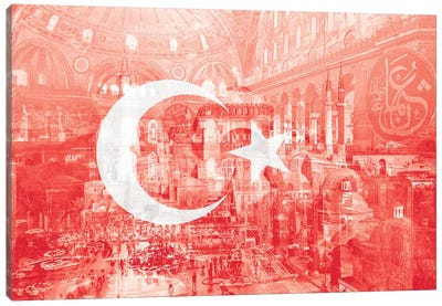 The City on Seven Hills - Istanbul - Straddler of Europe and Asia Canvas Art Print