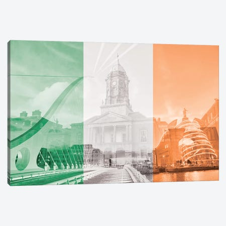 The Fair City - Dublin Canvas Print #MFC13} by 5by5collective Canvas Artwork