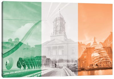 The Fair City - Dublin Canvas Art Print