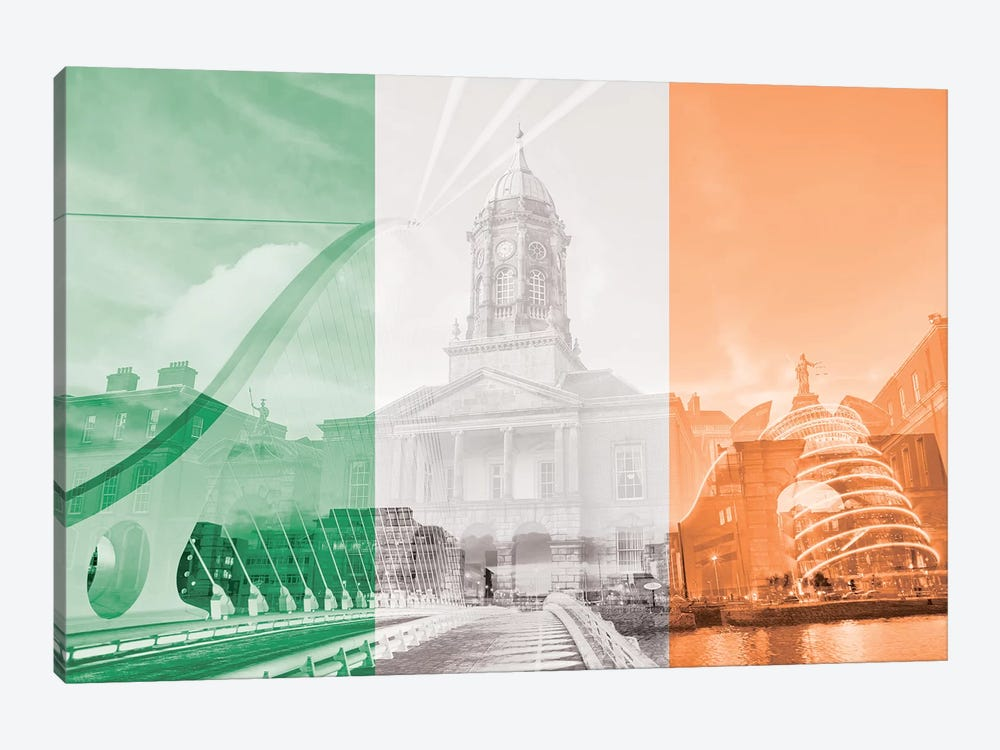 The Fair City - Dublin by 5by5collective 1-piece Canvas Print