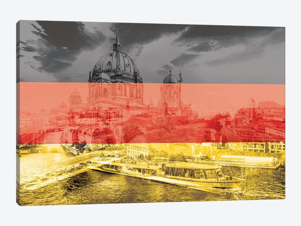 The Grey City - Berlin by 5by5collective 1-piece Canvas Artwork