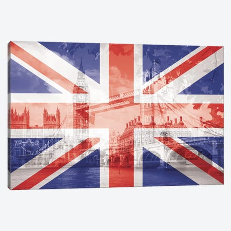The Square Mile - London - The Big Smoke on the Thames Canvas Print #MFC15} by 5by5collective Art Print
