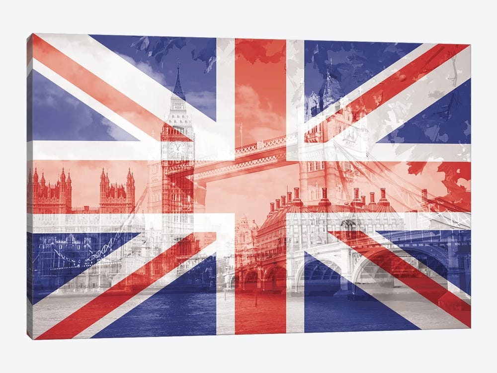 The Square Mile - London - The Big Smoke on the Thames by 5by5collective 1-piece Canvas Print