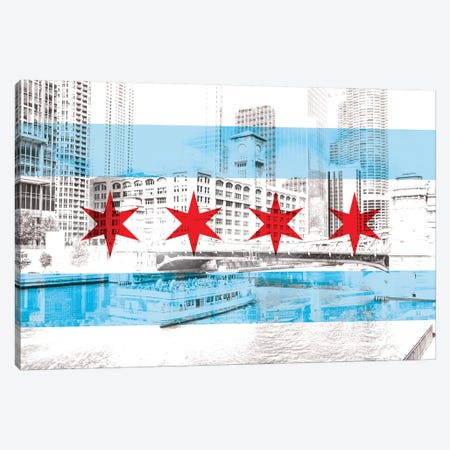 The Windy City - Chicago - The City of Big Shoiulders Canvas Print #MFC16} by 5by5collective Canvas Print