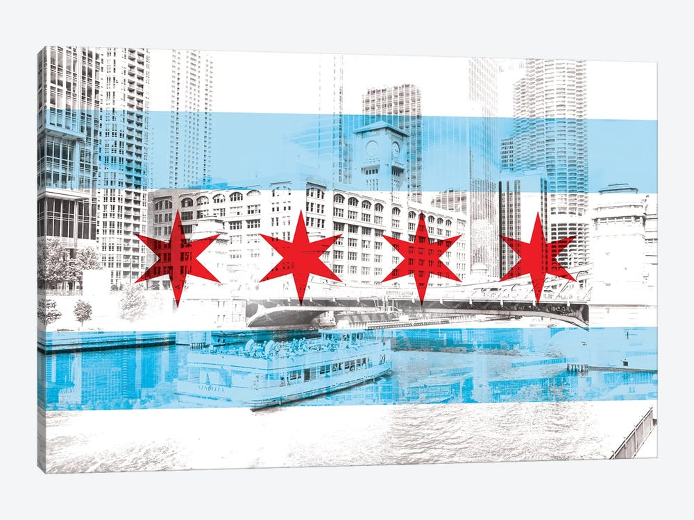 The Windy City - Chicago - The City of Big Shoiulders by 5by5collective 1-piece Canvas Artwork