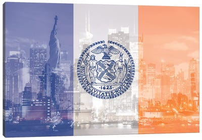 The Big Apple - New York City - An Architectural Dazzle Canvas Art Print