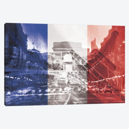 The City of Love - Paris - Where Romace Blossoms Canvas Print #MFC3} by 5by5collective Art Print