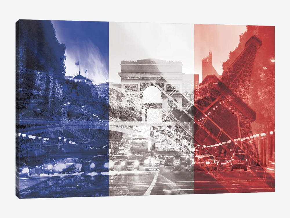 The City of Love - Paris - Where Romace Blossoms by 5by5collective 1-piece Canvas Art
