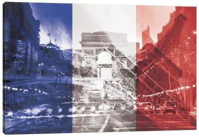 The City of Love - Paris - Where Romace Blossoms Canvas Art Print