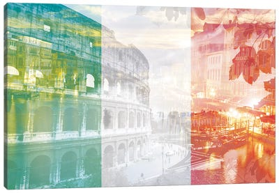 The Eternal City - Rome - Cradle of Ancient Architecture Canvas Art Print