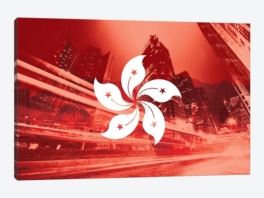 Pearl of the Orient - Hong Kong - Dynamic Inheritance by 5by5collective 1-piece Canvas Wall Art