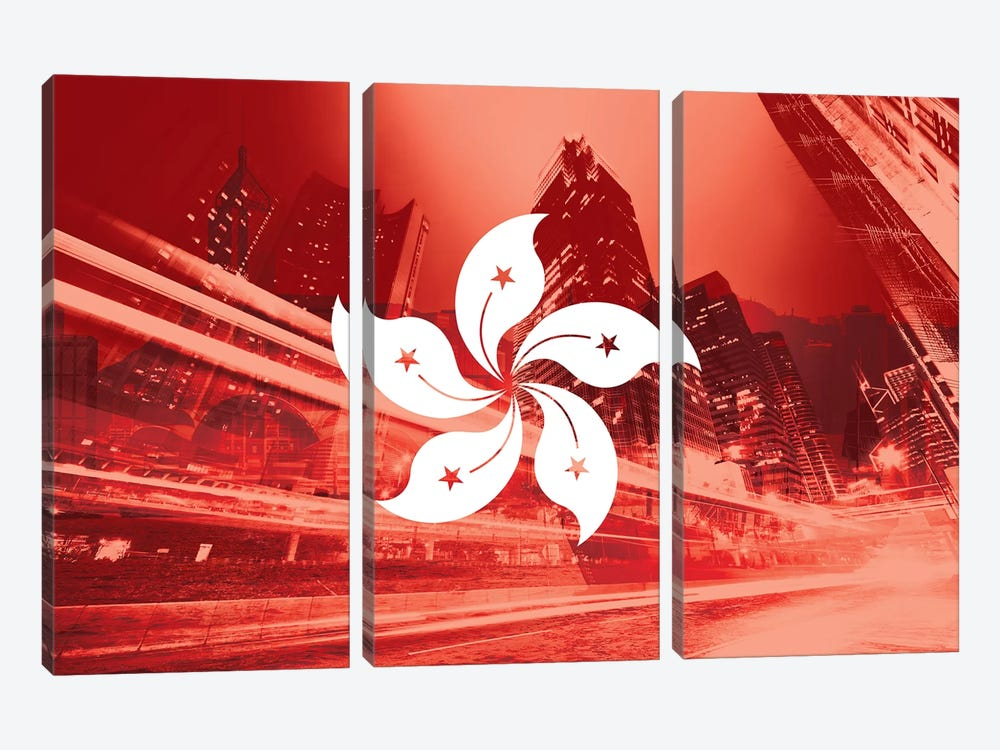 Pearl of the Orient - Hong Kong - Dynamic Inheritance by 5by5collective 3-piece Canvas Artwork