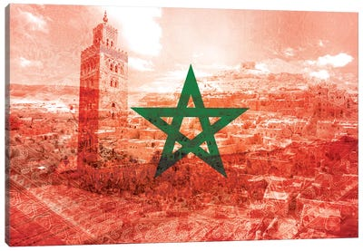 Red City - Marrakech - A Labyrinth of Imagination Canvas Print #MFC6