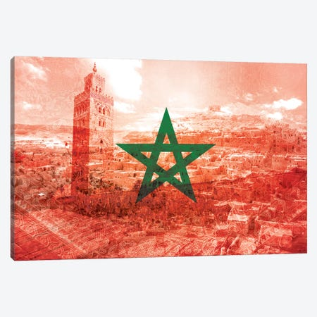 Red City - Marrakech - A Labyrinth of Imagination Canvas Print #MFC6} by 5by5collective Canvas Wall Art