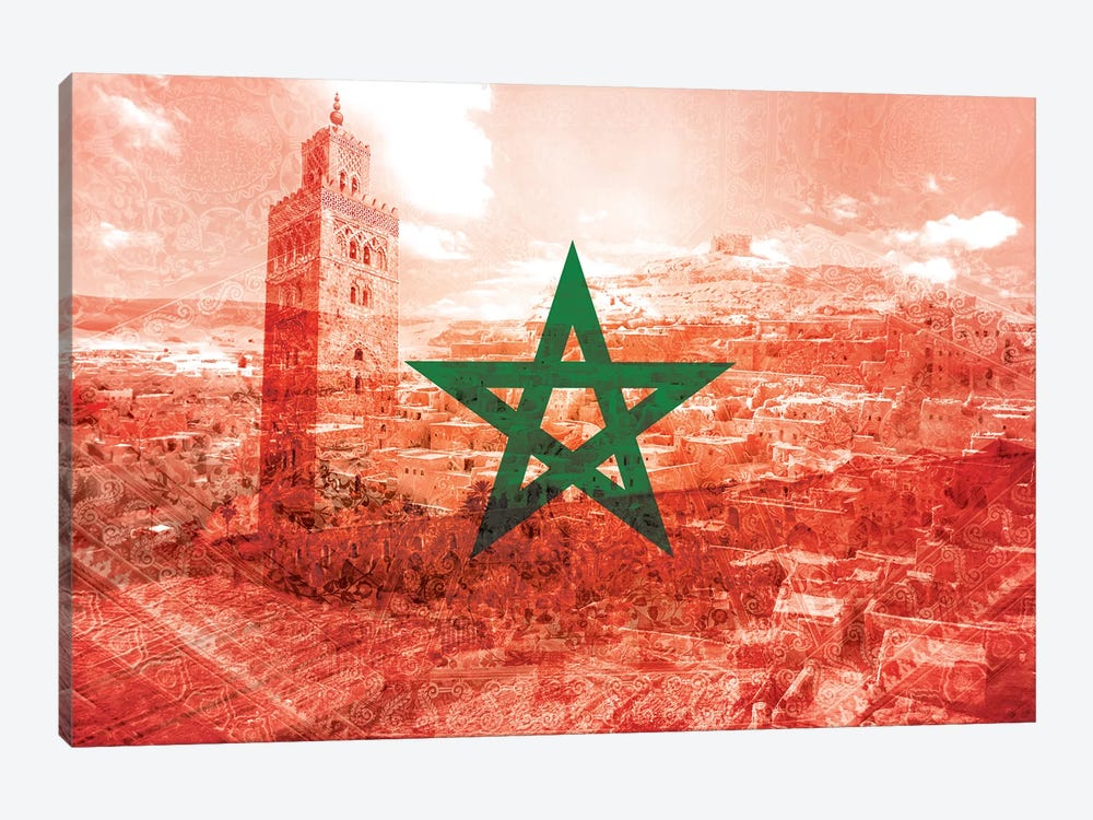 Red City - Marrakech - A Labyrinth of Imagination by 5by5collective 1-piece Art Print