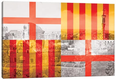 The City of Counts - Barcelona - A Medieval Beauty Canvas Print #MFC7