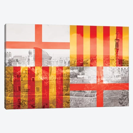 The City of Counts - Barcelona - A Medieval Beauty Canvas Print #MFC7} by 5by5collective Canvas Artwork