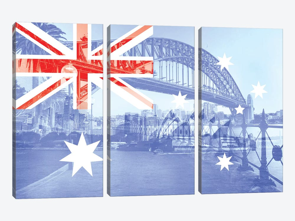 The Harbour City - Sydney - New South Wales 3-piece Canvas Print