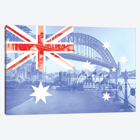 The Harbour City - Sydney - New South Wales Canvas Print #MFC8} by 5by5collective Canvas Art Print