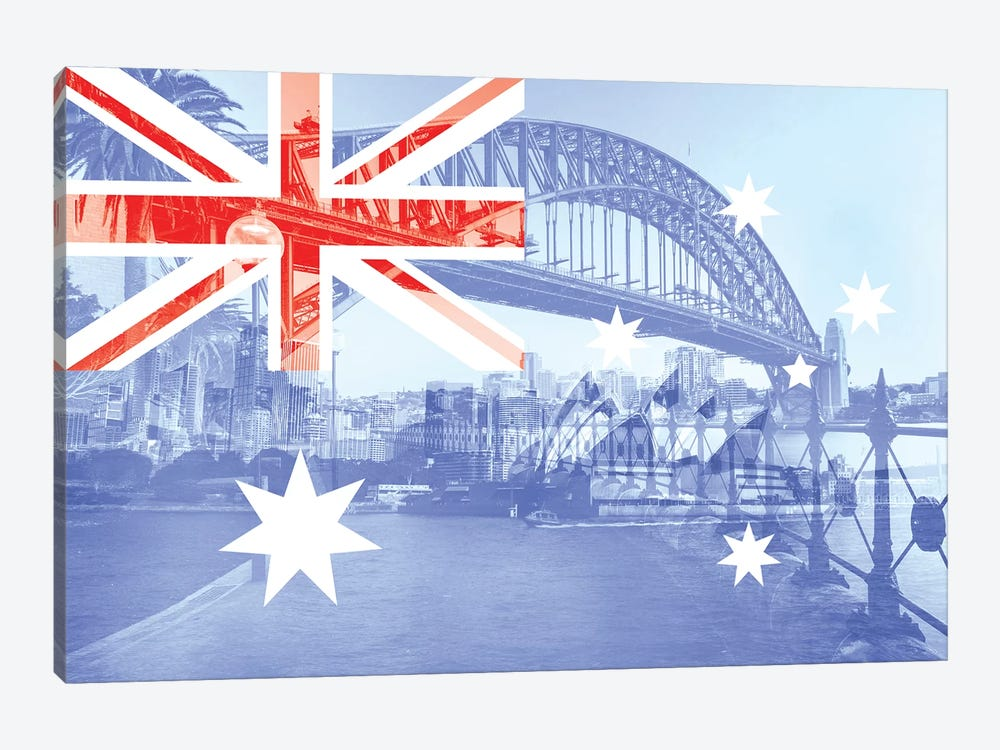 The Harbour City - Sydney - New South Wales by 5by5collective 1-piece Art Print