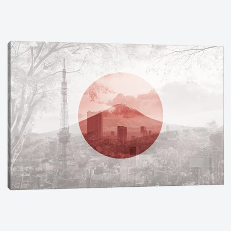 Rising Sun of Yamato - Tokyo Canvas Print #MFC9} by 5by5collective Art Print
