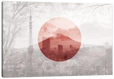 Rising Sun of Yamato - Tokyo Canvas Art Print