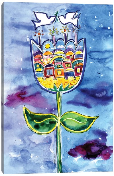 Jerusalem Bloom Canvas Art Print