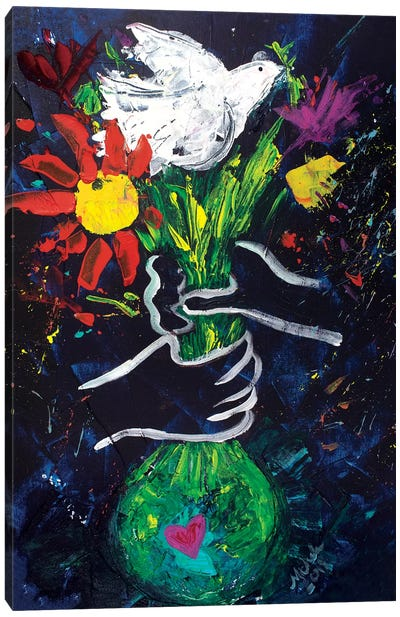 Peace A La Picasso Canvas Art Print