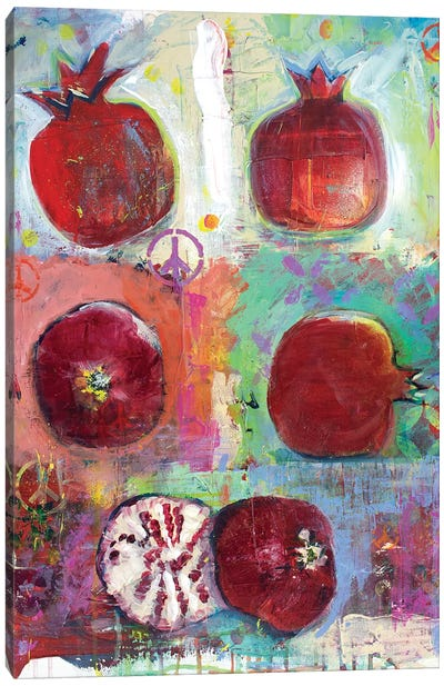 Peace And Pomgrantes Canvas Art Print