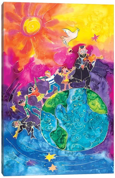 Peace Around The World Canvas Art Print
