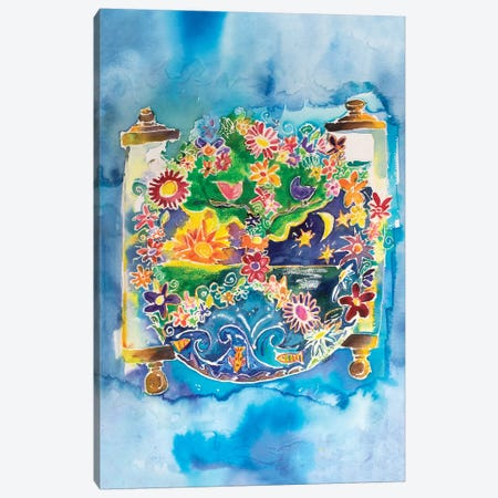 Peace Torah Canvas Print #MFE17} by Michele Pulver Feldman Canvas Art Print