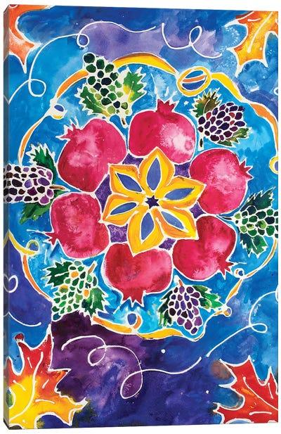 Pomegranates And Grapes Canvas Art Print