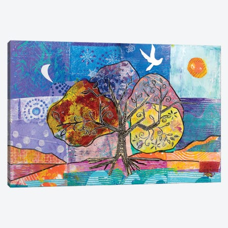 4 Seasons Of Peace Canvas Print #MFE1} by Michele Pulver Feldman Art Print