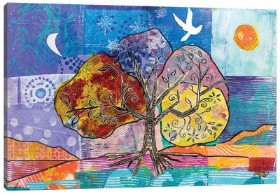 4 Seasons Of Peace Canvas Art Print