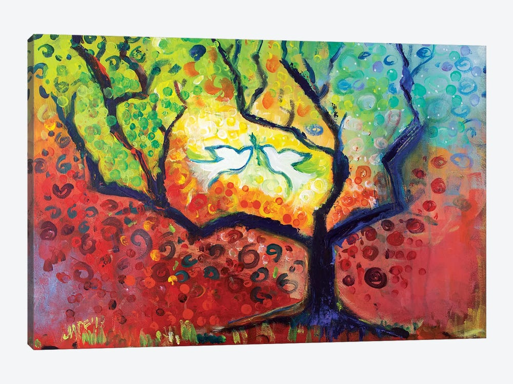 Seasons Of Peace by Michele Pulver Feldman 1-piece Canvas Art Print